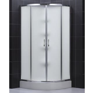 DreamLine Complete Quarter-round Frosted Glass Door Shower Kit