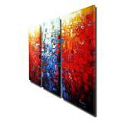 'Abstract' Hand-painted Oil Painting Canvas Art Set