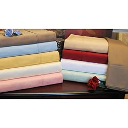 Egyptian Cotton 300 Thread Count Solid Pillowcases (Set of 2)