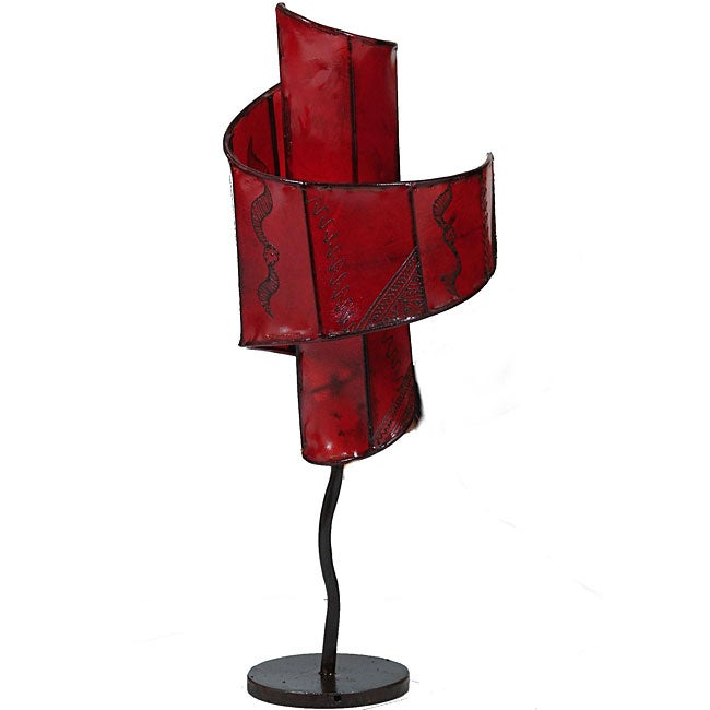 Leather and Iron 'Casablanca Lilly' Henna Lamp (Morocco)