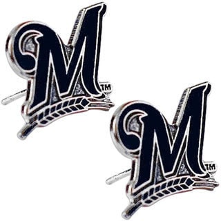 Milwaukee Brewers MLB Charm Post Stud Logo Earring Set