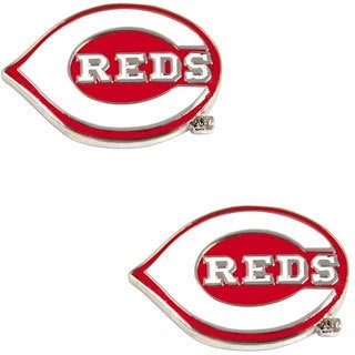 Cincinnati Reds MLB Charm Post Stud Logo Earring Set
