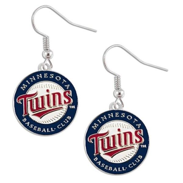 Minnesota Twins Dangle Logo Earrings