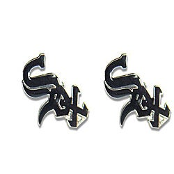 Chicago White Sox MLB Charm Post Stud Logo Earring Set
