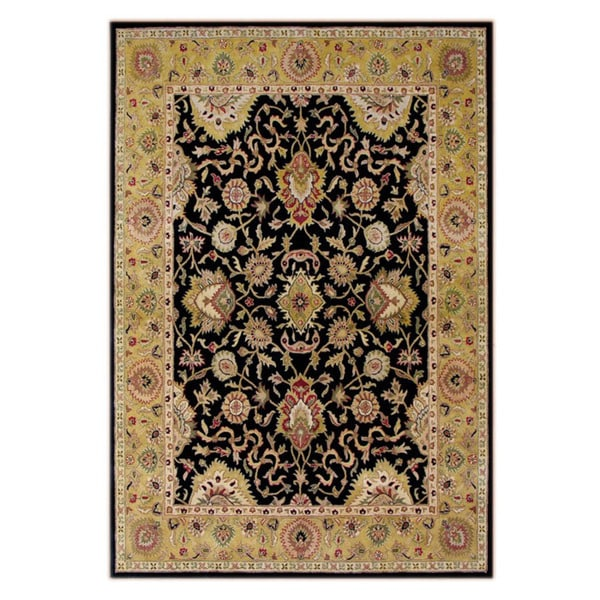 Alliyah Handmade Moon Indigo New Zealand Blend Wool Rug(6' x 9')