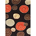 Hand-tufted Metro Black Wool Rug (5' x8')