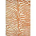 Alliyah Handmade Orange New Zealand Blend Wool Rug  (8' x 10')