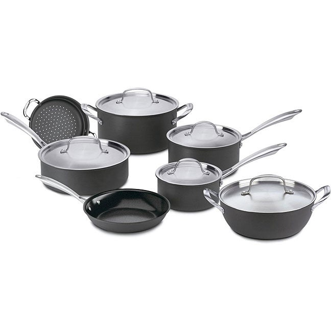 Cuisinart GreenGourmet Nonstick Hard Anodized 12-piece Cookware Set