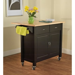 Black Mobile Kitchen Cart
