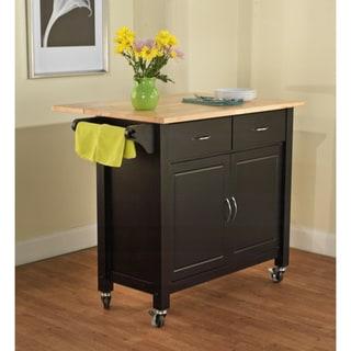 Simple Living Black Mobile Kitchen Cart