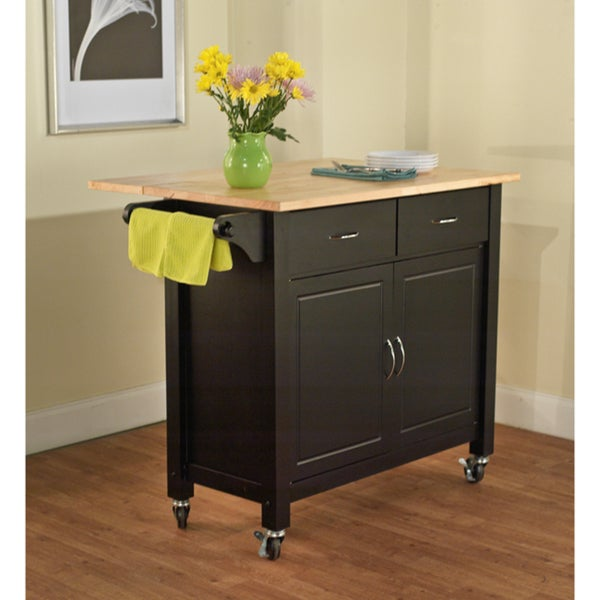 Simple Living Black Mobile Kitchen Cart