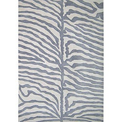 Alliyah Handmade Safari Grey New Zealand Blend Wool Rug (5' x 8')