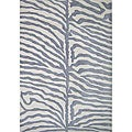 Alliyah Handmade Safari Grey New Zealand Blend Wool Rug (4' x 6')