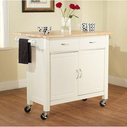 White Mobile Kitchen Cart