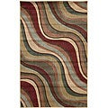 Nourison Summerfield Waves Beige Geometric Rug (3'6 x 5'6)