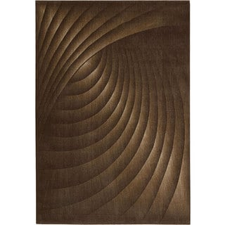 Nourison Summerfield Brown Abstract Rug (5'6 x 7'5)