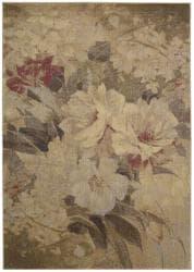 "Nourison Summerfield Beige Floral Area Rug (7'9"" x 10'10"")"