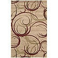 Nourison Summerfield Beige Abstract Rug (3'6 x 5'6)