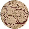 Nourison Summerfield Beige Abstract Rug (5'6 Round)