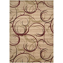 Nourison Summerfield Beige Abstract Rug (7'9 x 10'10)