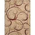 Nourison Summerfield Beige Abstract Rug (5'6 x 7'5)
