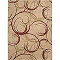 Nourison Summerfield Beige Abstract Rug (5'6 x 7'5)