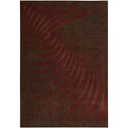 Nourison Summerfield Red Abstract Rug (5'6 x 7'5)