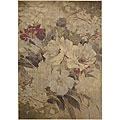 Nourison Summerfield Beige Floral Polyacrylic Rug (5'6