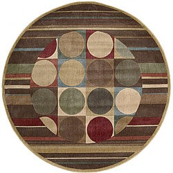 Nourison Summerfield Waves Beige Geometric Rug 5 6 X 7 5