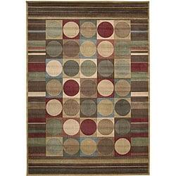 Nourison Summerfield Beige Geometric Rug (7'9 x 10'10)