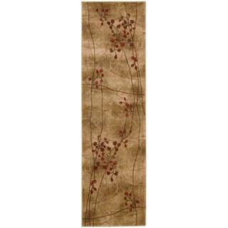 Nourison Summerfield Latte Floral Rug (2' x 5'9)