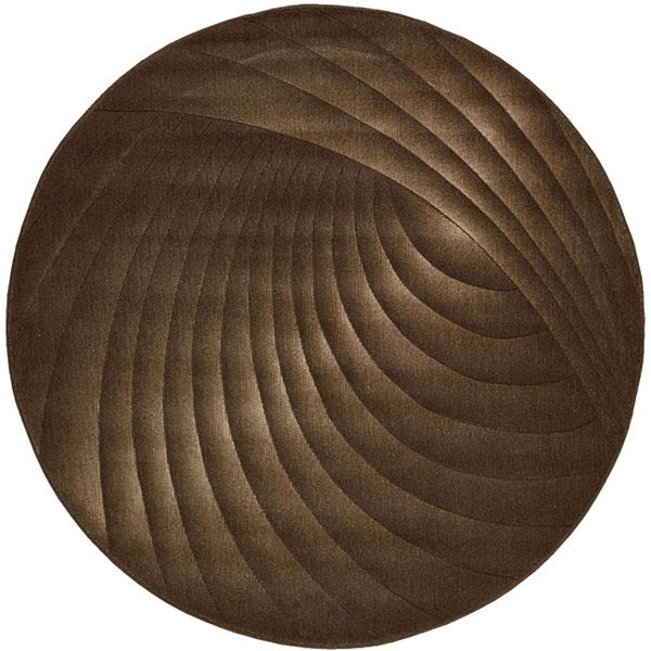 Nourison Summerfield Brown Abstract Rug (5'6 Round)