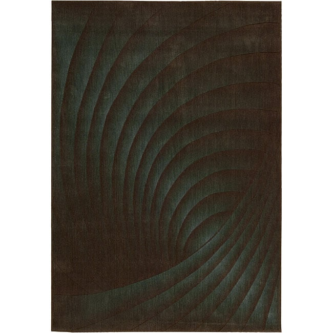 Nourison Summerfield Green Abstract Rug (7'9 x 10'10)