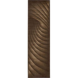 Nourison Summerfield Brown Abstract Rug (2'3 x 8')