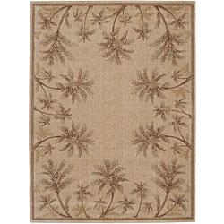 Nourison Summerfield Beige Floral Rug (5'6 x 7'5)