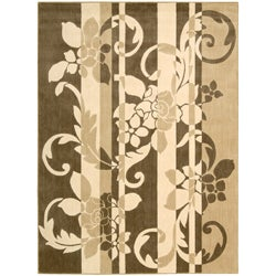 Nourison Summerfield Brown Floral Rug (3'6 x 5'6)