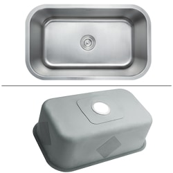 Kraus 31.5-inch Undermount Single Bowl Steel Kitchen Sink