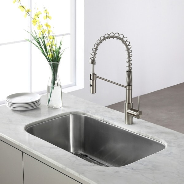 Http Www Overstock Com Home Garden Kraus 31 5 Inch Undermount Single Bowl Steel Kitchen Sink 5070922 Product Html