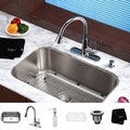 Kraus Kitchen Combo Set Stainless Steel Modern Undermount Sink /Faucet