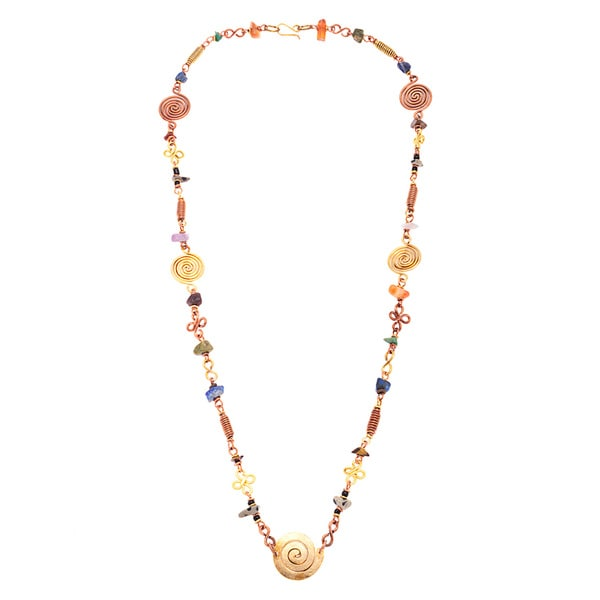 Stone Bead Delicate African Beauty Necklace (Kenya)