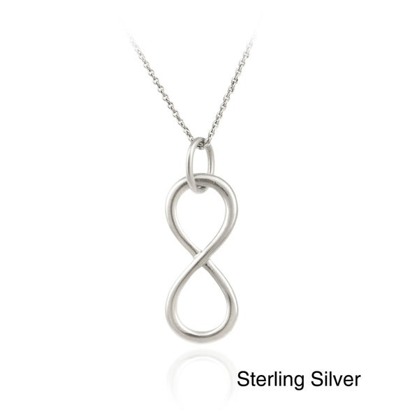 Mondevio Sterling Silver Infinity Necklace