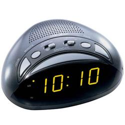 Seth Thomas 'Oblique' Black Plastic Electric Alarm Clock