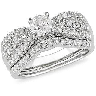 SHIRA 14k White Gold 1ct TDW Diamond Bridal Set (H-I, I1-I2)