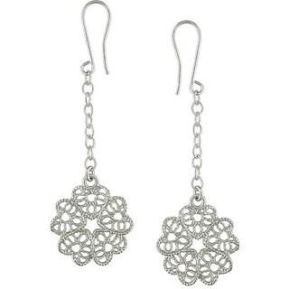 M by Miadora Sterling Silver Flower Dangle Earrings