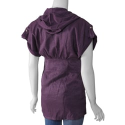 Runway Junior's Zipper-front Hooded Lurex Tunic