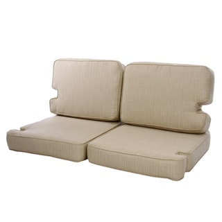 Teak Indoor/ Outdoor Loveseat Cushion Set made with Sunbrella Fabric