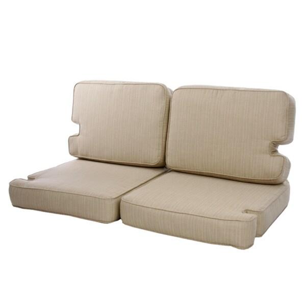 Teak Indoor Outdoor Loveseat Cushion Set Made With Sunbrella Fabric 12931064