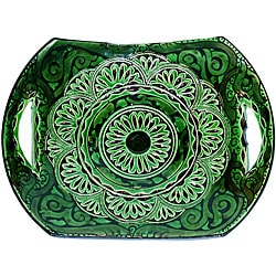 Ceramic 'Andalucia' Engraved Decorative Plate (Morocco)