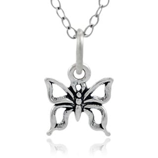 Journee Collection Sterling Silver Children's Butterfly Necklace