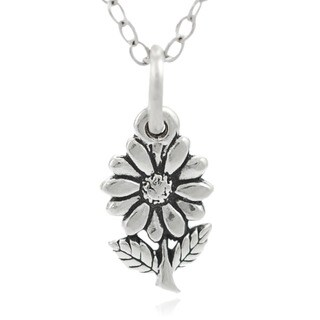 Journee Collection Sterling Silver Children's Flower Necklace